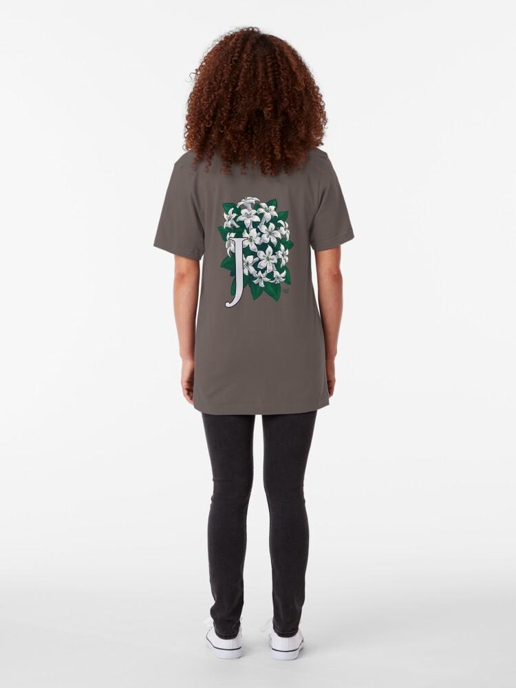 Alternate view of J is for Jasmine - full image Slim Fit T-Shirt