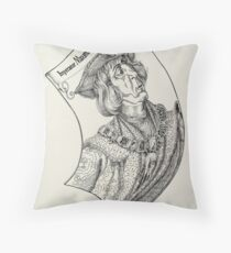 Mapped Distortion Throw Pillow