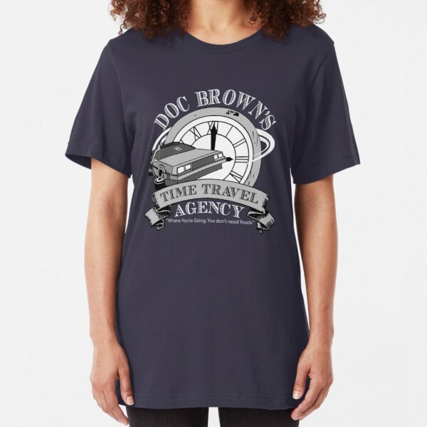 Doc Brown's Travel Agency Slim Fit T-Shirt