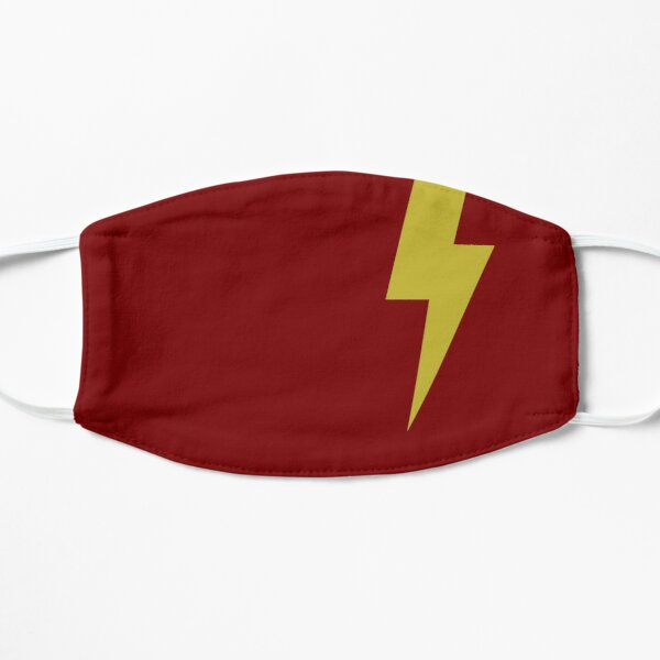 Cartoon Yellow Lightning Bolt Design/Pattern Flat Mask