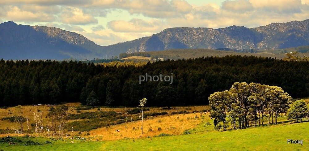 Tasmania Landscape, Sheffield, Mt Roland by photoj