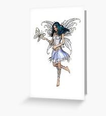 Snowflake Butterfly Fairy Greeting Card