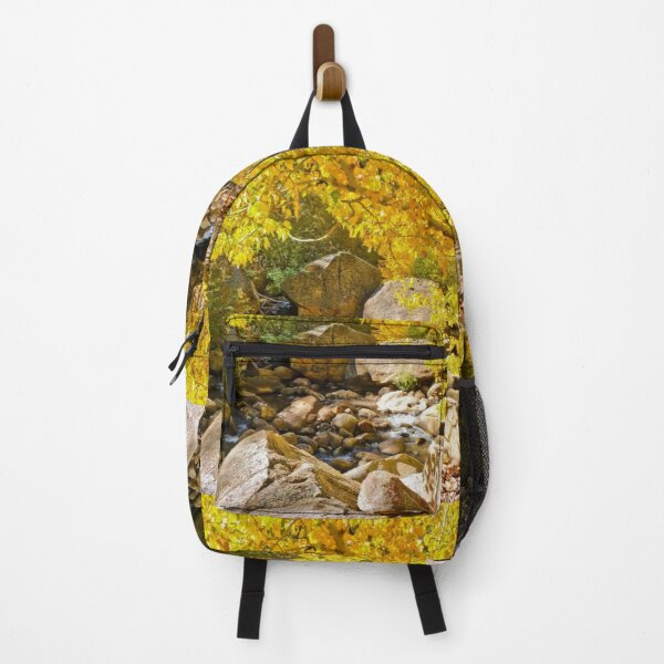 AUTUMN TREE LEANING OVER THE RIVER Backpack