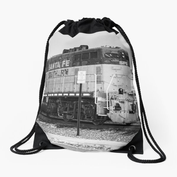 Sante Fe Trains Drawstring Bag