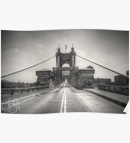 Roebling Bridge Poster
