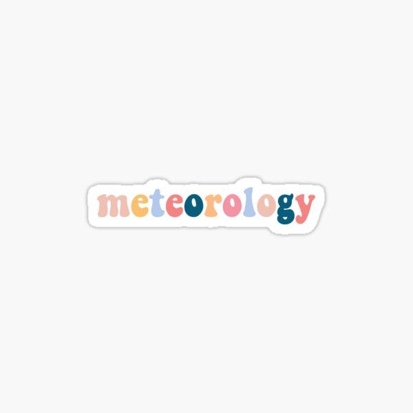 meteorology Sticker