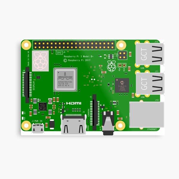 Raspberry Pi 3 B+ Metal Print