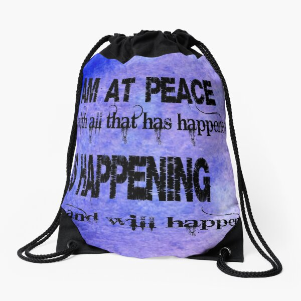 My positive affirmation Drawstring Bag