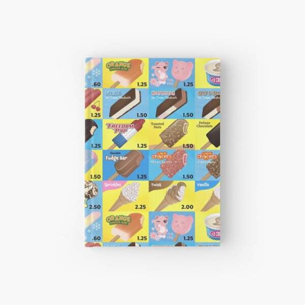 Ice Cream Truck Menu Hardcover Journal