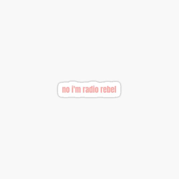 no soy radio rebelde Pegatina