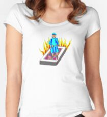 The Boy Stood on the Burning Deck Women's Fitted Scoop T-Shirt