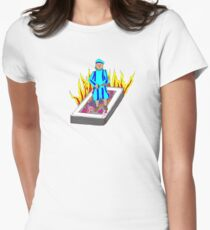 The Boy Stood on the Burning Deck Womens Fitted T-Shirt