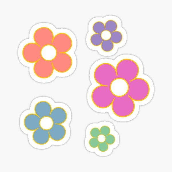 hippie flower set Sticker