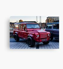 Red Carbon Fibre Bodied LandRover Canvas Print