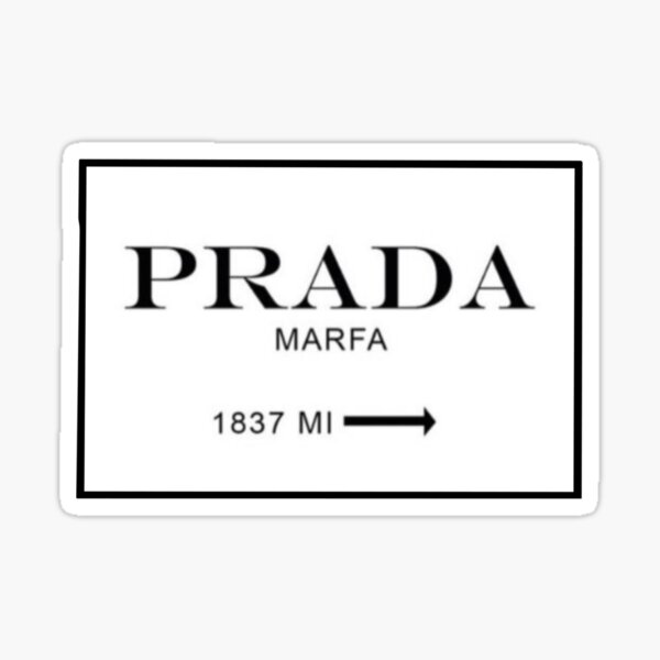 Prada sign  Sticker