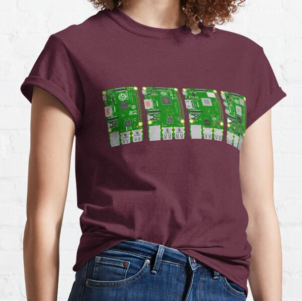Raspberry Pi Evolution 1, 2, 3, 4 Classic T-Shirt