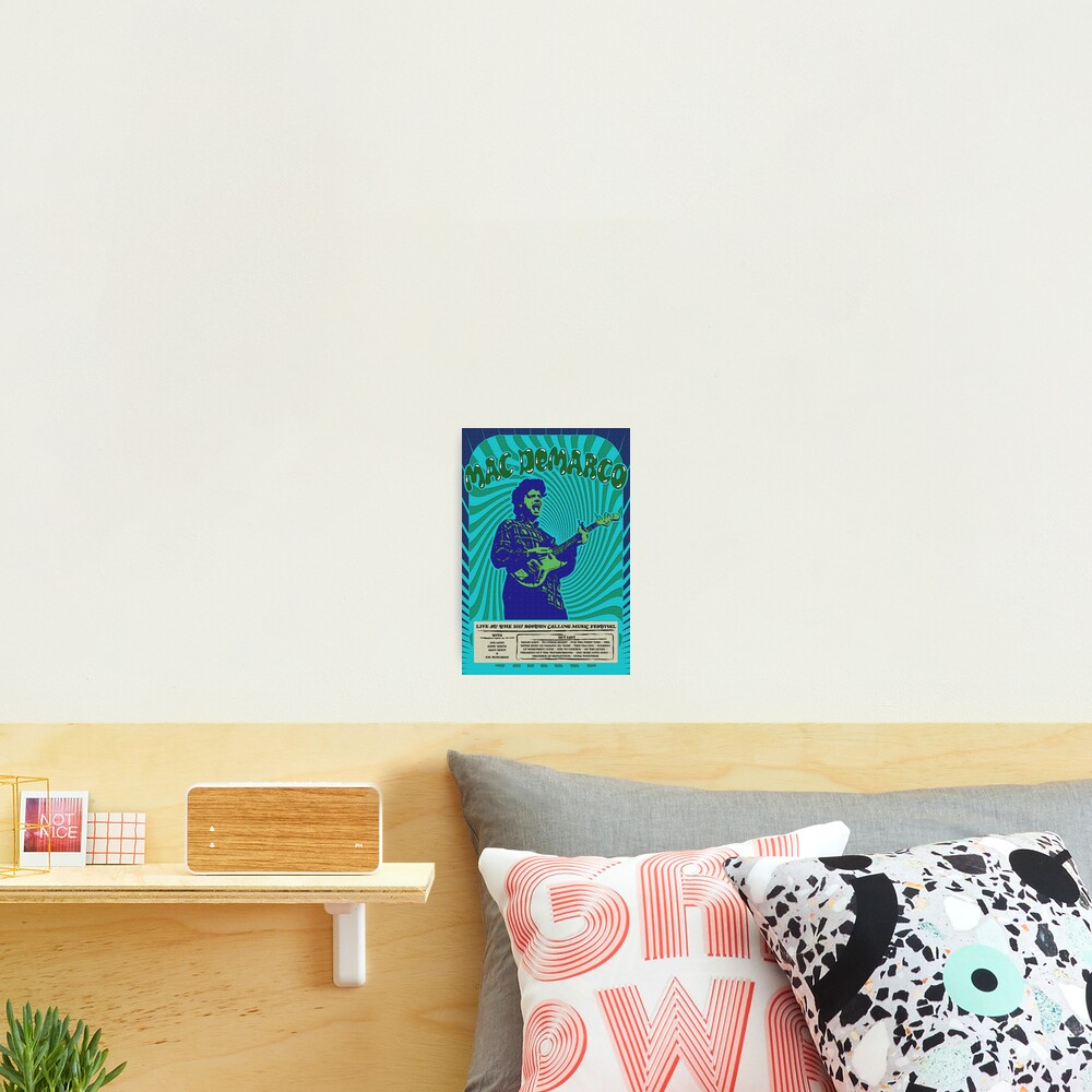 Mac DeMarco Psychedelic Poster Photographic Print
