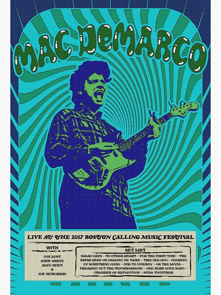 Mac DeMarco Psychedelic Poster by 5040designs