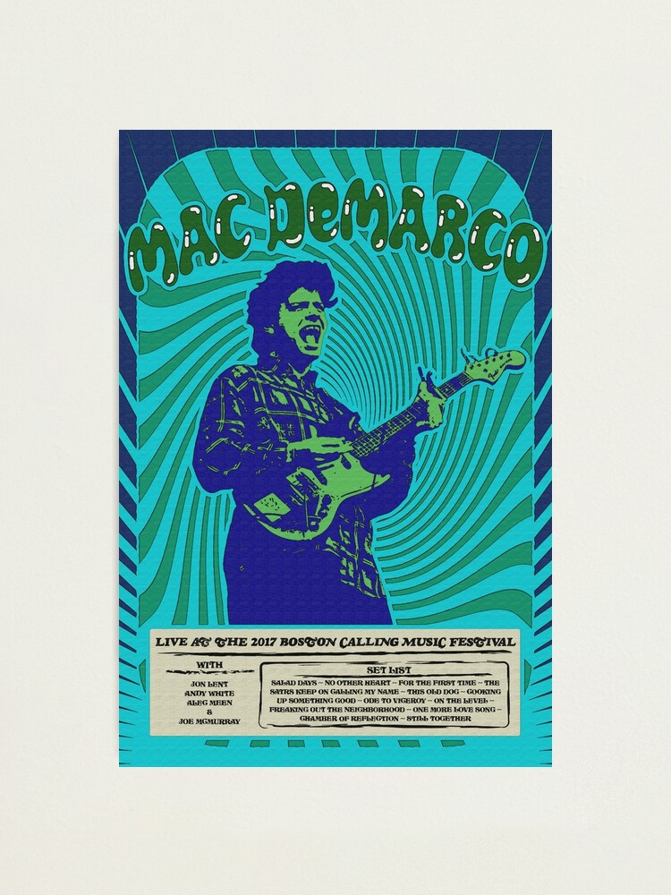 Alternate view of Mac DeMarco Psychedelic Poster Photographic Print