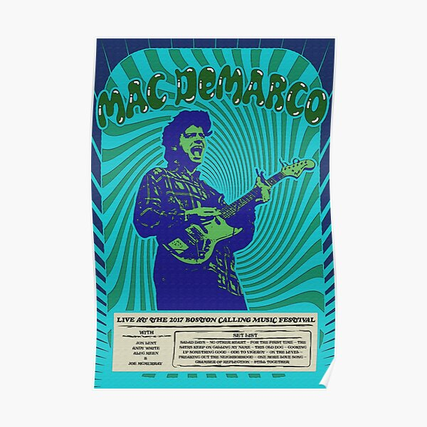 Mac DeMarco Psychedelic Poster Poster