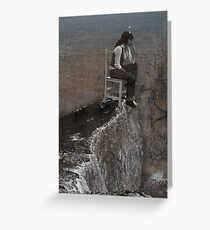 precipice Greeting Card