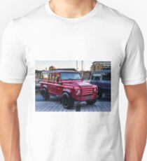 Red Carbon Fibre Bodied LandRover T-Shirt