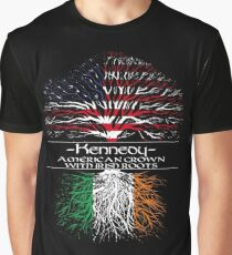 Kennedy - America Grown with Irish Roots Graphic T-Shirt
