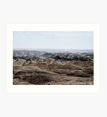Moon landscape Namibia Art Print