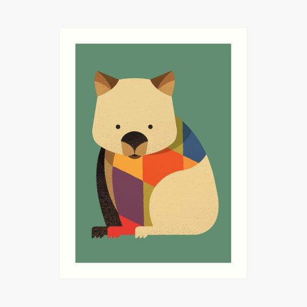 Hello Wombat Art Print