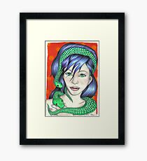 Woman with Snakes Framed Print