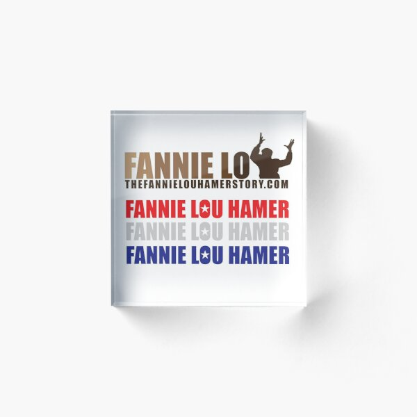 The Fannie Lou Hamer Story, Red, White & Blue Acrylic Block