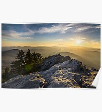 Grandfather Mountain Sunset Blue Ridge Parkway Western NC Poster