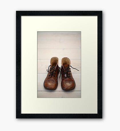 Baby Boots 1 Framed Print