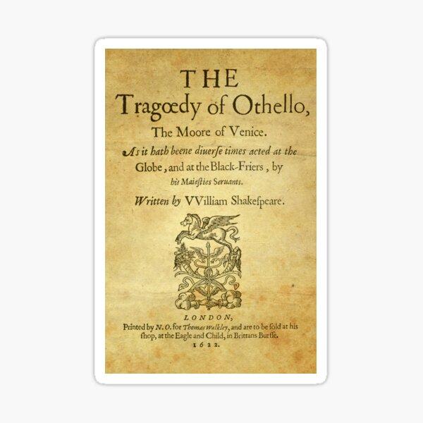 Shakespeare, Othello 1622 Pegatina