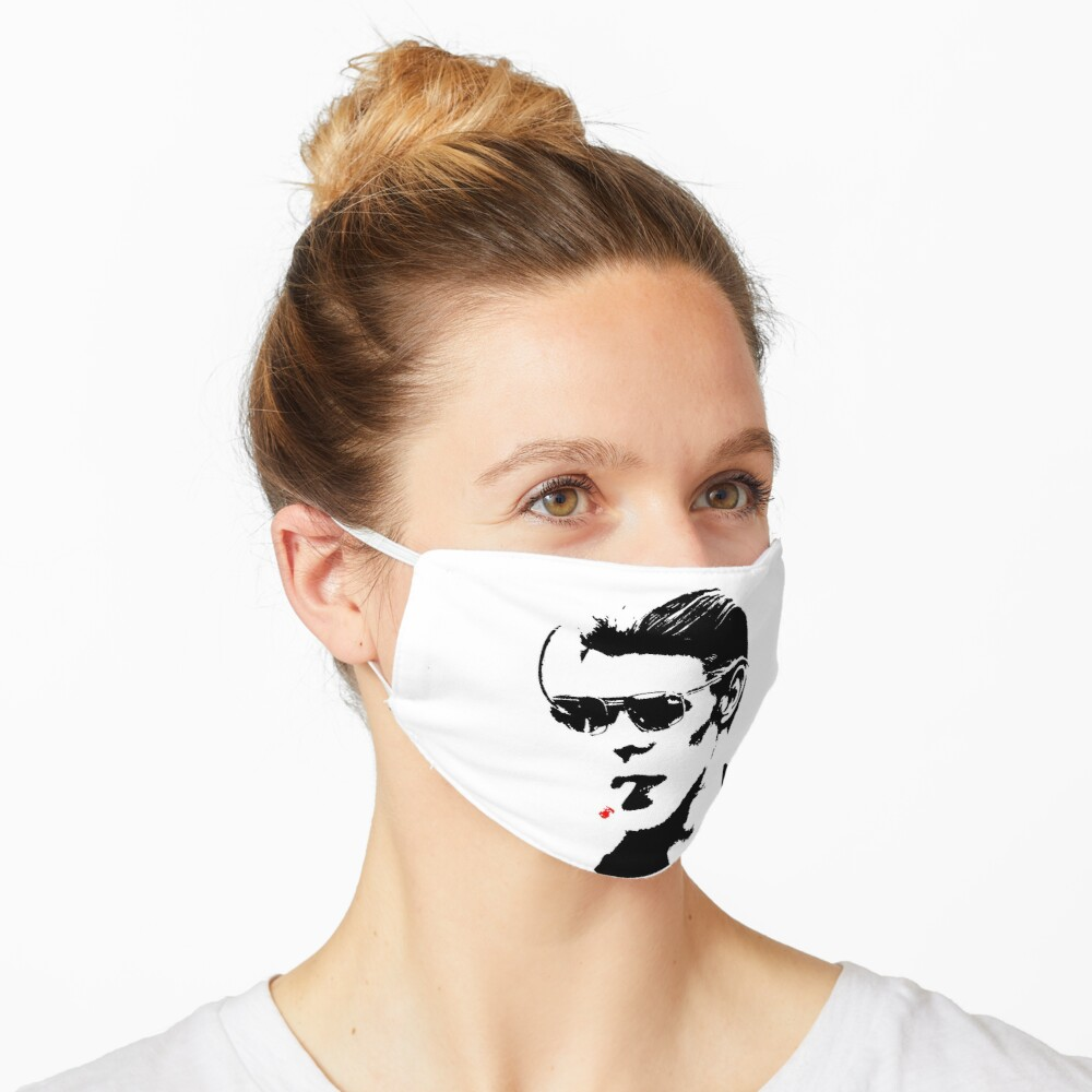 David Bowie silhouette fire Mask