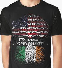 Murphy - American Grown with Irish Roots Graphic T-Shirt