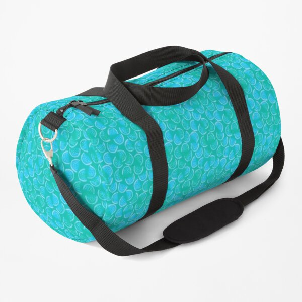 Watermelon Blues | Brilliant Blue and Green Pattern | Itty Bitty Watermelon Confetti Design Duffle Bag