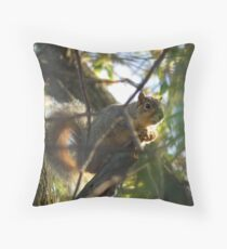 Squirrel in a Tree at Sweet Marsh  Throw Pillow