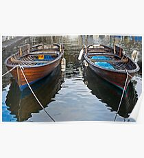 two wooden boats Poster