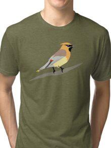 Cedar Waxwing Bird Tri-blend T-Shirt
