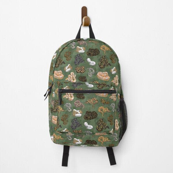 Ball Python Morphs Pattern Moss Green Backpack