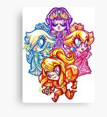 Chibi Nintendo Girls Canvas Print