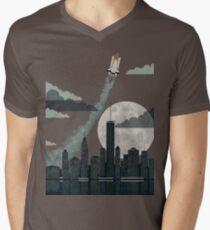 Rocket City T-Shirt mit V-Ausschnitt