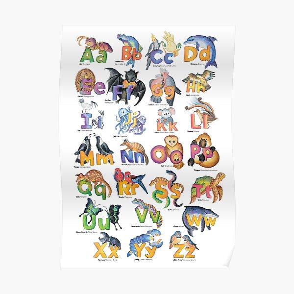 Australian Animal Alphabet Poster