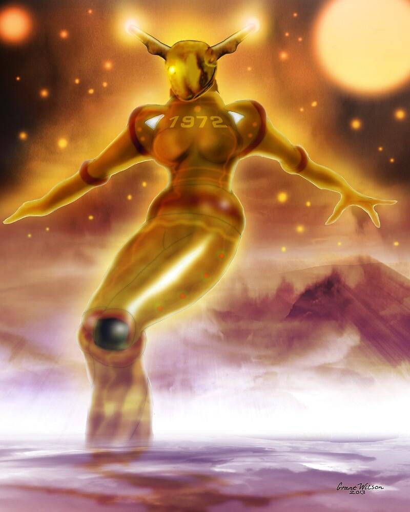 Golden Robot by Grant Wilson