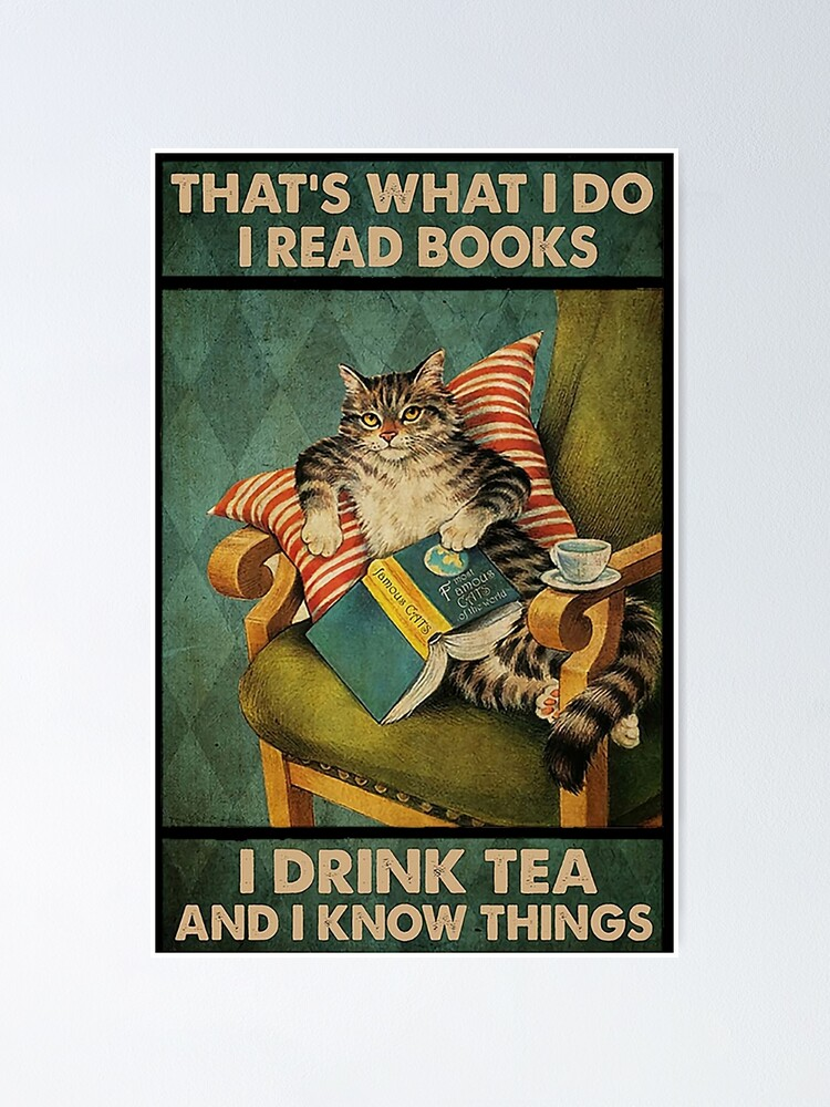 Cat Book What I Do Poster