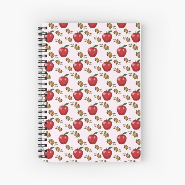 Colorful Apple  Spiral Notebook