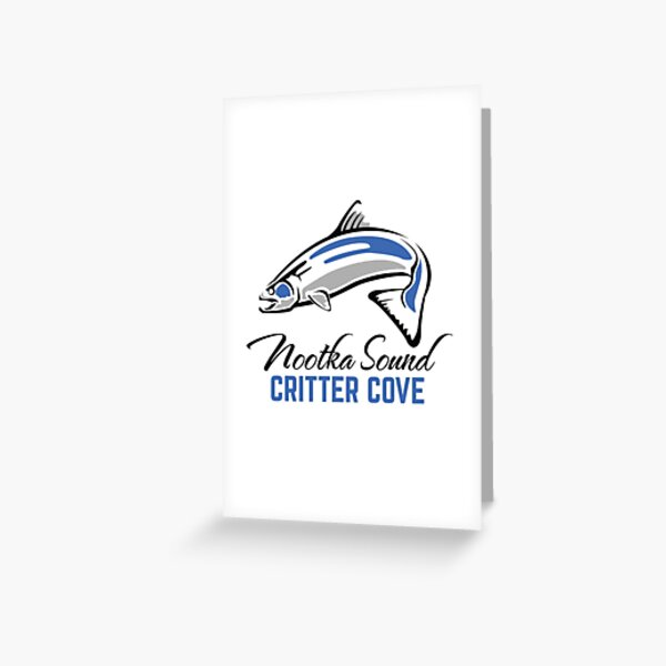Critter Cove - Nootka Sound - Salmon Logo Greeting Card