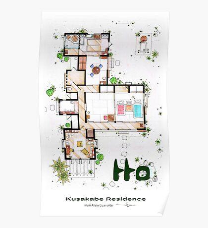 """Kusakabe Residence from """"Tonari no Totoro"""" film Poster"""