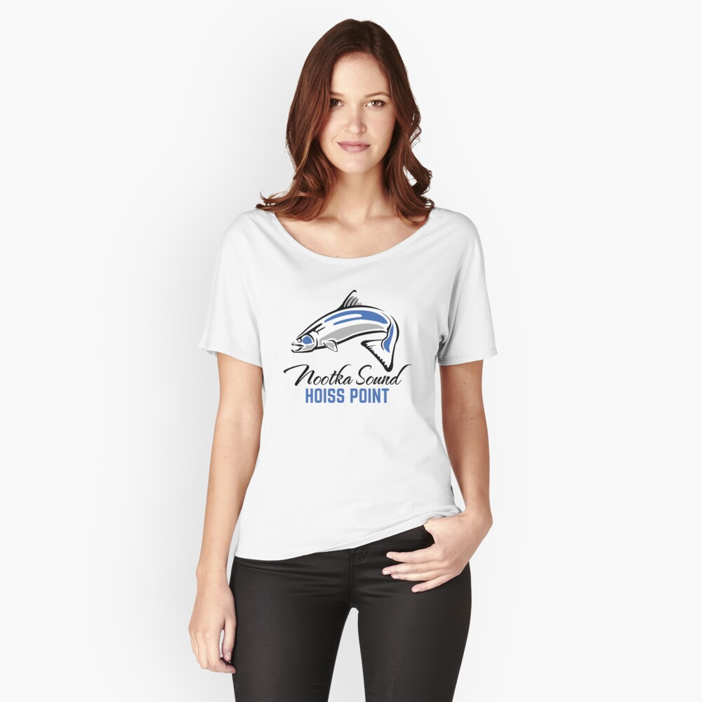 Hoiss Point - Nootka Sound - Salmon Logo Relaxed Fit T-Shirt